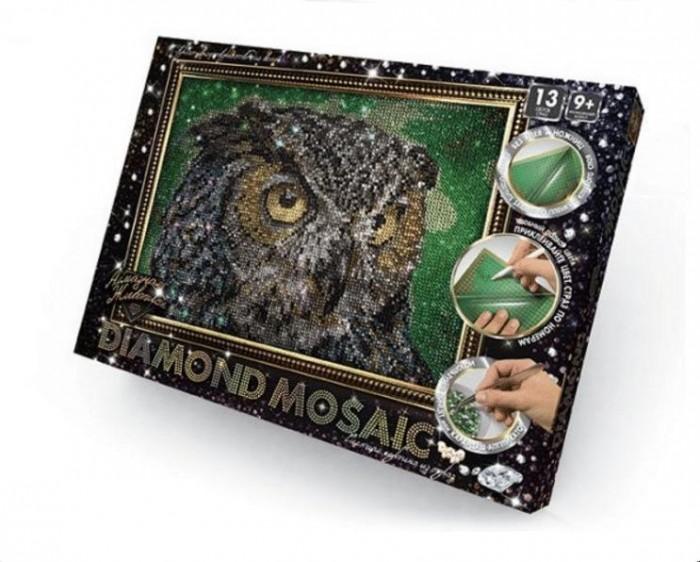 Картины своими руками Danko Toys Набор креативного творчества Diamond Mosaic малый Сова