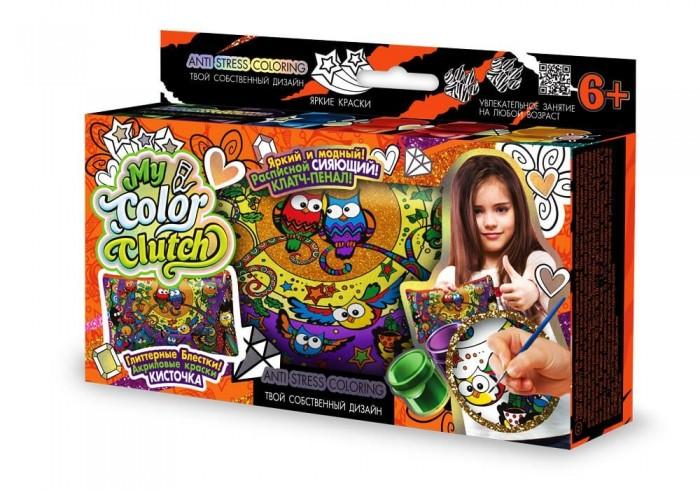 Заготовки под роспись Danko Toys Набор креативного творчества My Color Clutch клатч-пенал Совы