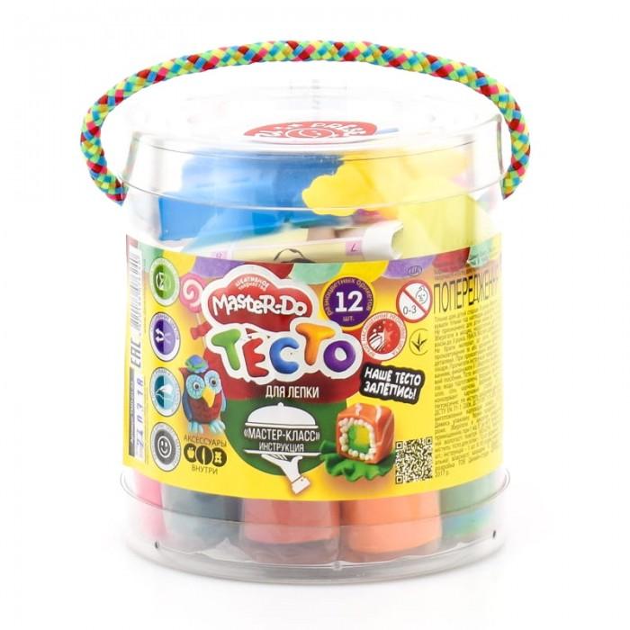 Тесто для лепки Danko Toys Master Do ведро малое 12 цветов