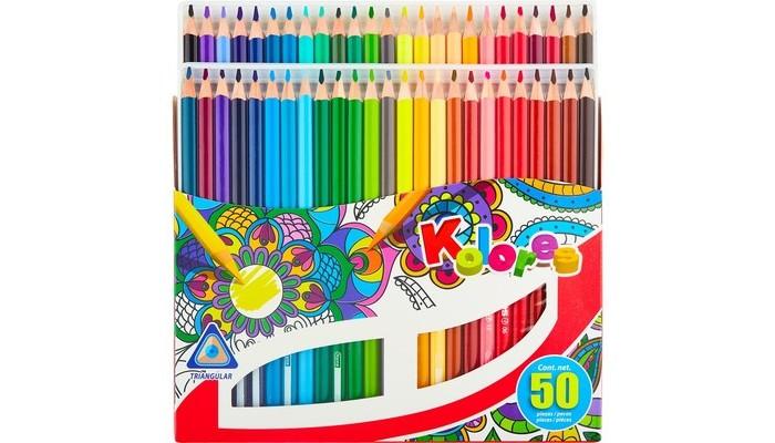 Kores  Карандаши цветные трехгранные 50 цветов