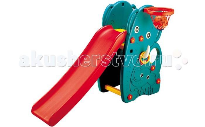 Горка Happy Box Слон с баскетбольным кольцомСлон с баскетбольным кольцомГорка Happy Box Слон с баскетбольным кольцом, артикул JM-706 - это замечательная игровая горка с баскетбольной корзиной, которая крепится сбоку и рогом кольцебросом для подвижных игр.   Горка прочная и устойчивая.  Высота регулируется в зависимости от возраста и роста ребенка.  Легко разбирается, не требую специального инструмента.  Компактна и удобна при хранении и транспортировке.   Материал: высококачественный пластик.  Возраст: от 1 года. Размер горки 171х91х105 см. Размер упаковки: 1370x225x690 мм.<br>