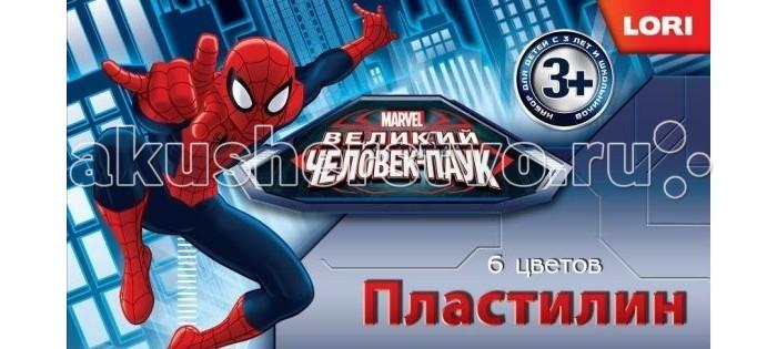 Всё для лепки Lori Пластилин Человек-паук 6 цветов без европодвеса