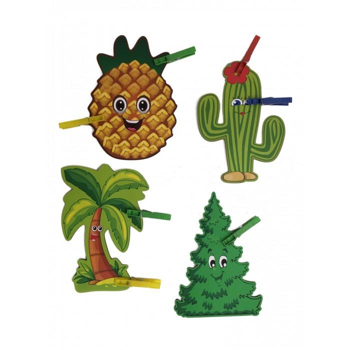 Сибирские игрушки Игры с прищепками Ёлка, кактус, ананас, пальма