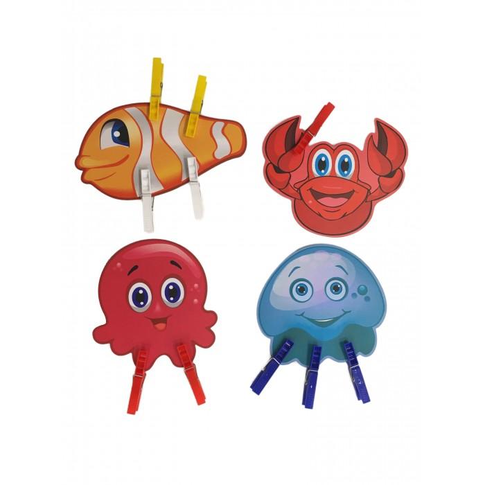 Сибирские игрушки Игры с прищепками Осьминог, рыбка, медуза, краб