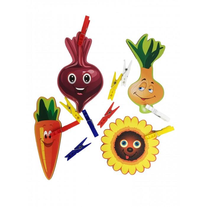 Сибирские игрушки Игры с прищепками Подсолнух, лук, морковка, свекла