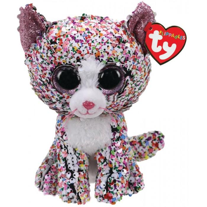 Купить Мягкие игрушки, Мягкая игрушка TY Конфетти кошка с пайетками 25 см