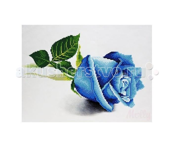 Творчество и хобби , Картины своими руками Molly Мозаичная картина Голубая роза 30х40 см арт: 90810 -  Картины своими руками