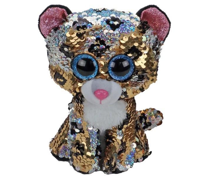 Купить Мягкие игрушки, Мягкая игрушка TY Леопард с пайетками 15 см