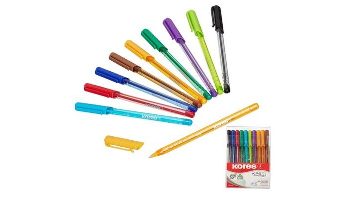 Kores  Ручка шариковая K1-M в пластиковом пенале 10 шт.