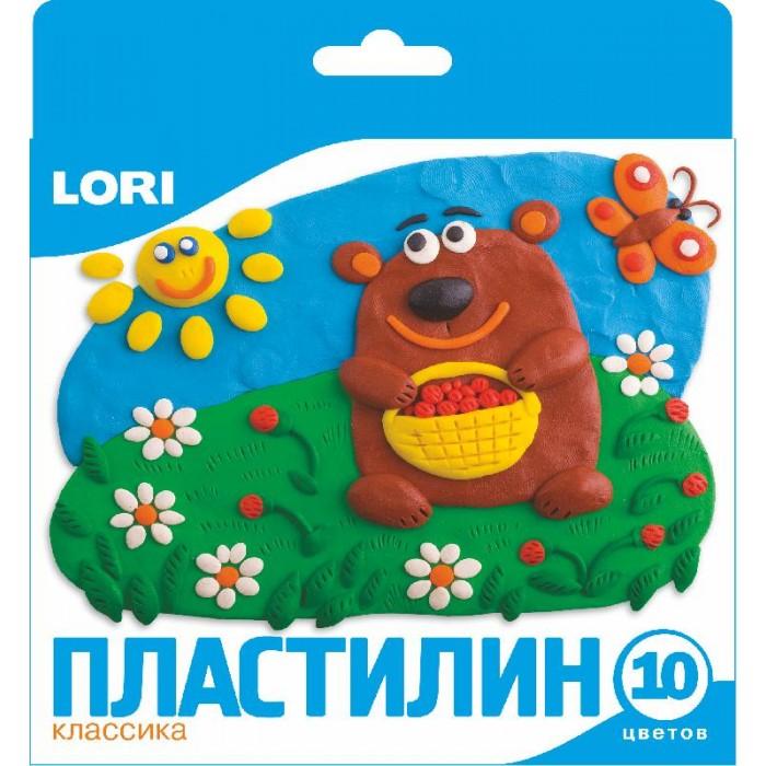 Всё для лепки Lori Пластилин классика 10 цветов