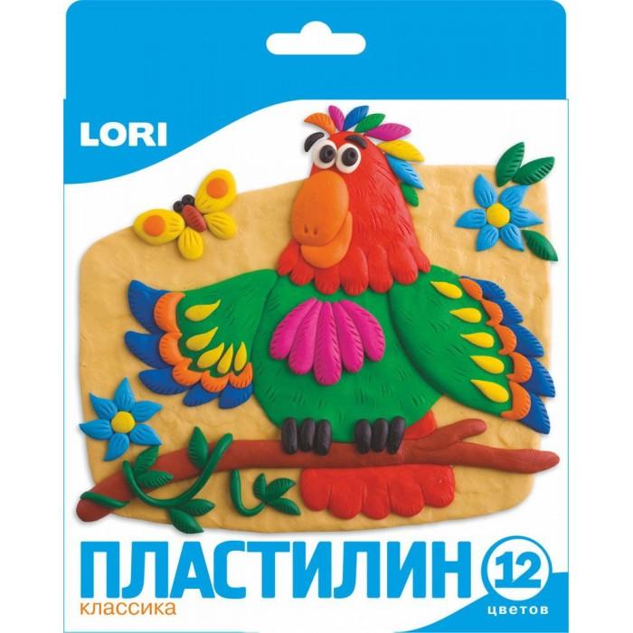 Всё для лепки Lori Пластилин классика 12 цветов