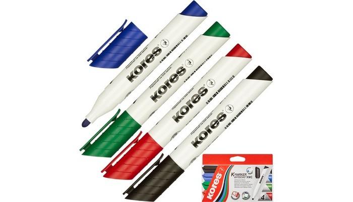 Канцелярия Kores Набор маркеров для досок 3 мм 4 шт. канцелярия berlingo магнит для досок 3 см 5 шт
