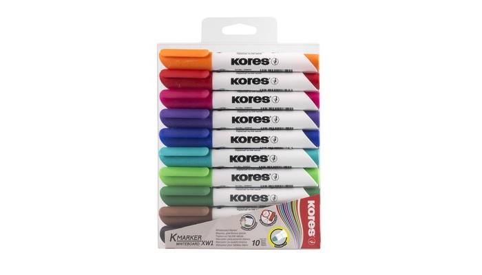 Канцелярия Kores Маркеры для досок 3 мм 10 шт. kores набор маркеров xw1 6 шт 20802