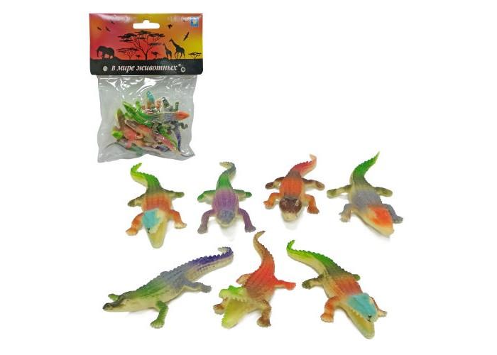 Игровые фигурки 1 Toy В мире животных Игровой набор Крокодилы 8 шт.