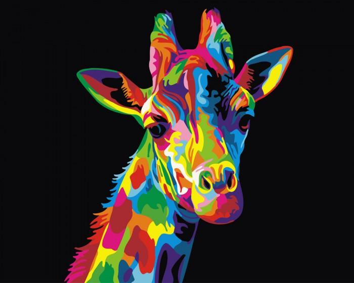 Фото - Картины по номерам Paintboy Картина по номерам Радужный жираф картины по номерам paintboy картина по номерам веселый ангелок