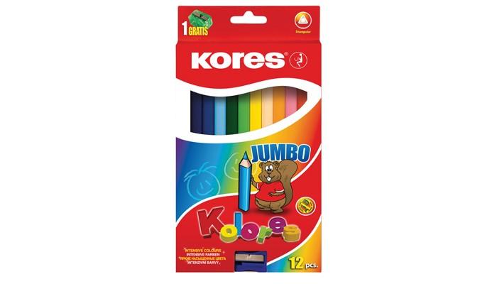 Фото - Карандаши, восковые мелки, пастель Kores Карандаши Jumbo цветные трехгранные с точилкой 12 цветов карандаши восковые мелки пастель kores карандаши цветные шестигранные с точилкой 12 цветов