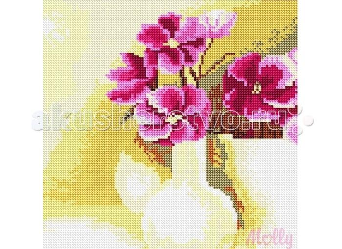 Творчество и хобби , Картины своими руками Molly Картины со стразами 2.8 мм Букет фиалок арт: 90945 -  Картины своими руками