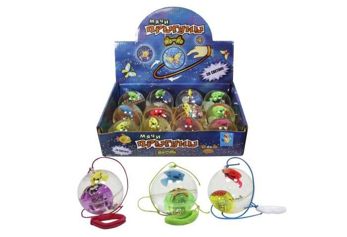 Фото - Мячики и прыгуны 1 Toy Йо-йо Мяч-прыгун Бабочка 5.5 см развивающие игрушки наша игрушка йо йо космос