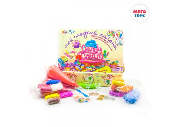 Масса для лепки Мега Тойс Набор легкого прыгающего пластилина Candy crem масса для лепки эластик candy