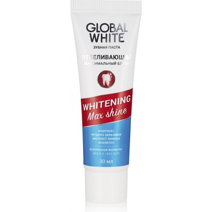 Фото - Гигиена полости рта Global White Зубная паста отбеливающая Max shine 30 мл зубная паста global white whitening max shine 100g