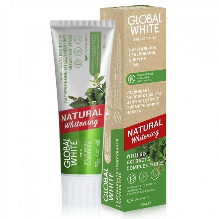 Фото - Гигиена полости рта Global White Зубная паста отбеливающая Natural whitening 100 г зубная паста global white whitening max shine 100g
