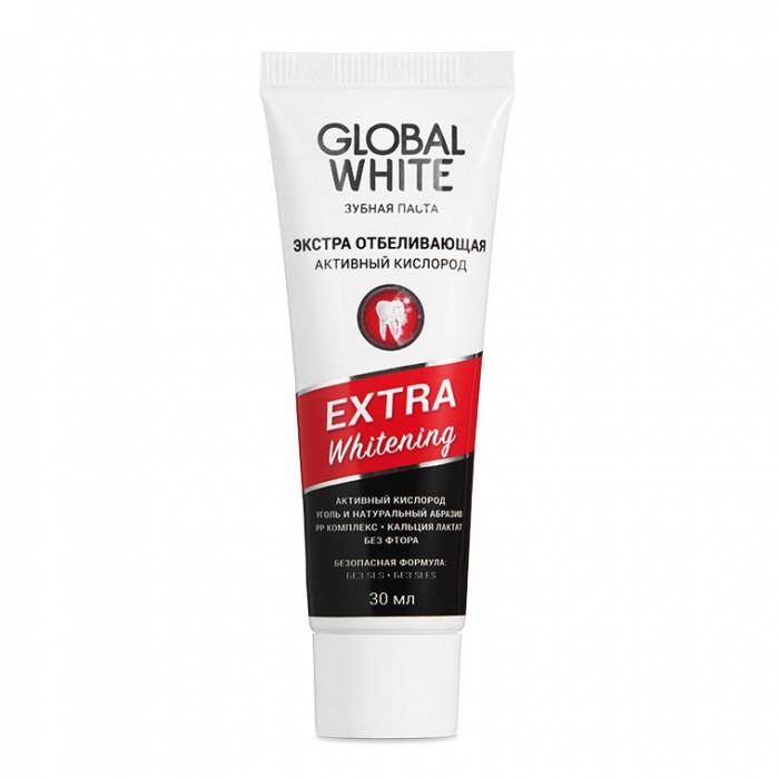 Гигиена полости рта Global White Зубная паста отбеливающая Extra whitening 30 мл зубная щетка отбеливающая extra whitening toothbrush в ассортименте