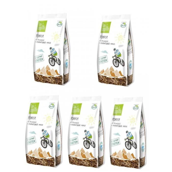 Правильное питание Ешь ЗдорОво Макаронные изделия из гречневой муки Рожки 5 упаковок по 250 г макароны из амарантовой муки di