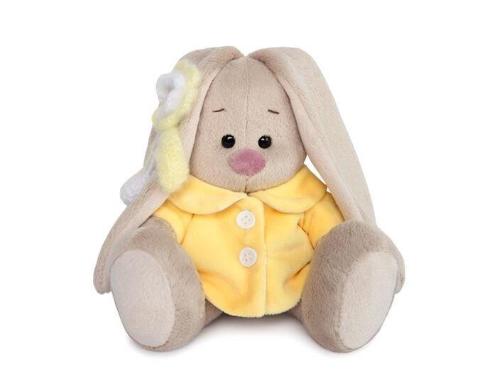 Купить Мягкие игрушки, Мягкая игрушка Budi Basa Зайка Ми в желтом меховом пальто 15 см