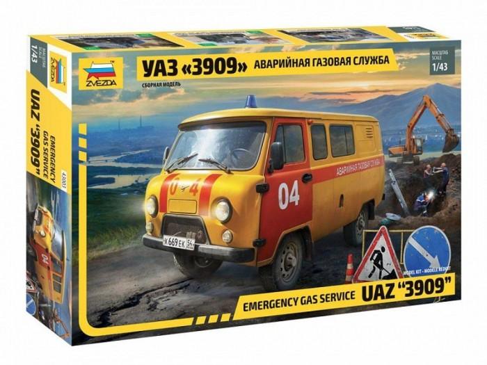 Сборные модели Звезда Модель УАЗ 3909 Аварийно-газовая служба