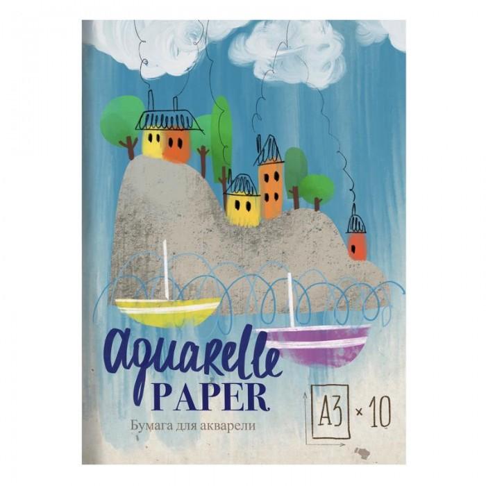 Канцелярия Kroyter Папка для рисования акварелью Пейзаж 10 листов А3 де винтон харриет botanical painting вдохновляющий курс рисования акварелью