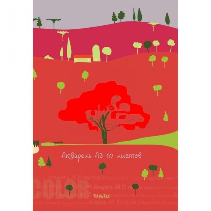 Канцелярия Kroyter Папка для рисования акварелью 10 листов А3 де винтон харриет botanical painting вдохновляющий курс рисования акварелью
