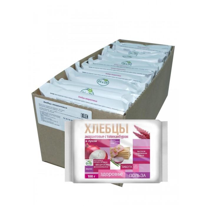 Di&Di Хлебцы амарантовые с топинамбуром и луком без глютена 100 г 12 шт. фото