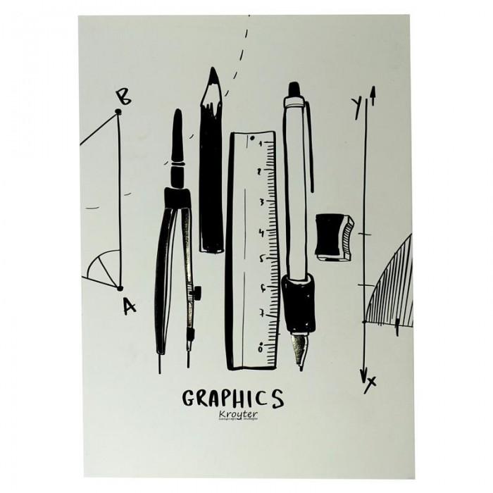 цена на Принадлежности для рисования Kroyter Папка для черчения Графика 10 листов А4