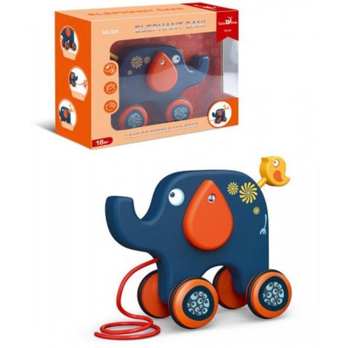 каталки игрушки janod на веревочке ксилофон sweet cocoon Каталки-игрушки Наша Игрушка на веревочке Слон 22х18 см