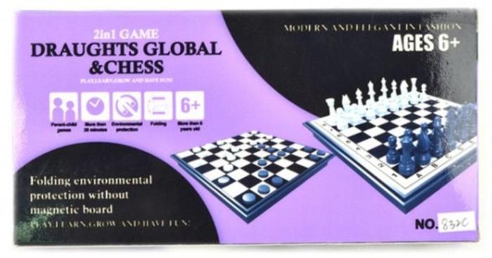 Настольные игры, Наша Игрушка Настольная игра Шахматы, шашки 2 в 1 100780230  - купить со скидкой