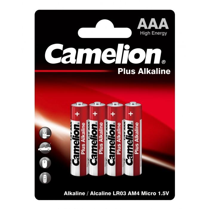 Батарейки, удлинители и переходники Camelion Батарейка LR03-BP4