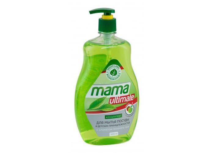 Бытовая химия Mama Ultimate Концентрат для мытья посуды Зелёный чай 1000 мл