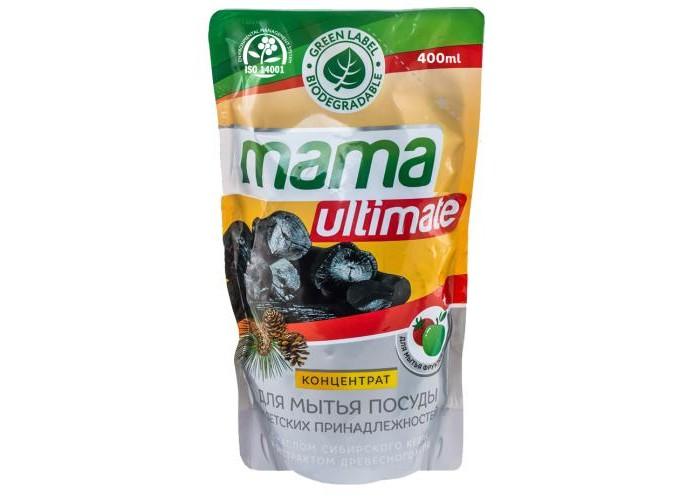 Бытовая химия Mama Ultimate Концентрат для мытья посуды Уголь 400 мл