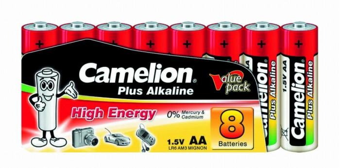 Батарейки, удлинители и переходники Camelion Батарейка LR6-SP8 батарейка aa camelion alkaline lr6 sp8 plus 8 штук