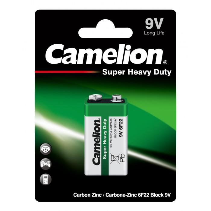 Батарейки, удлинители и переходники Camelion Батарейка 6F22-BP1G батарейка camelion ag9 10 шт блистер