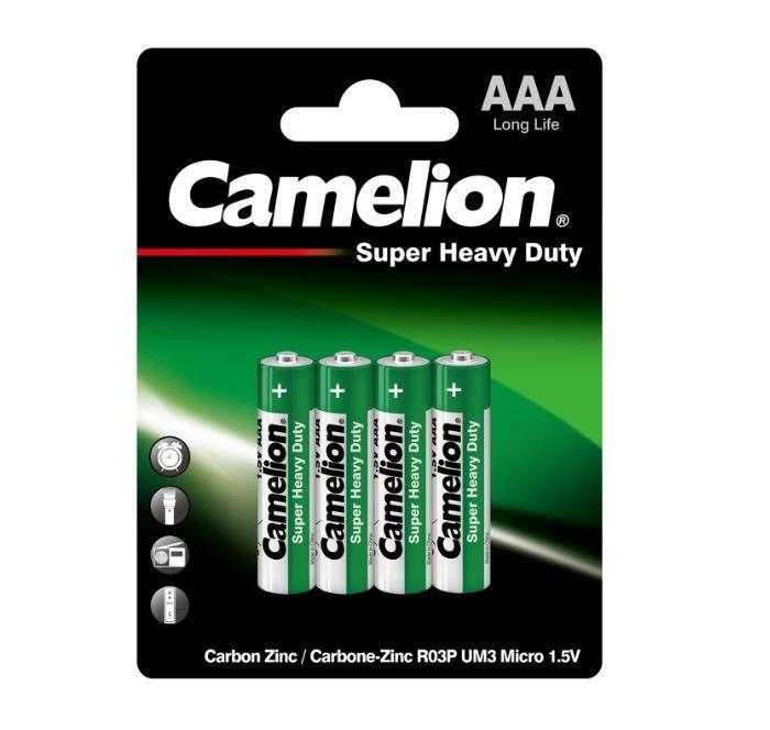 Батарейки, удлинители и переходники Camelion Батарейка R03P-BP4G