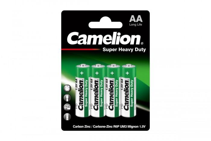 Батарейки, удлинители и переходники Camelion Батарейка R6P-BP4G