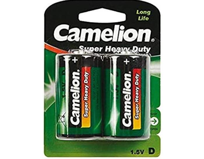 Батарейки, удлинители и переходники Camelion Батарейка R20P-BP2G