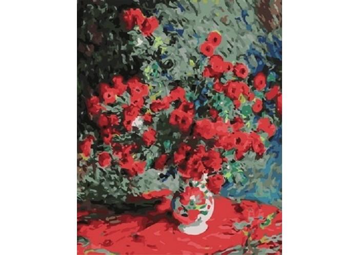 Картины по номерам Paintboy Картина Красно-зеленый букет