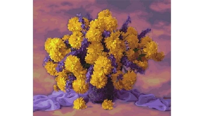 Paintboy Картина по номерам Фиолетово-желтое настроение ...