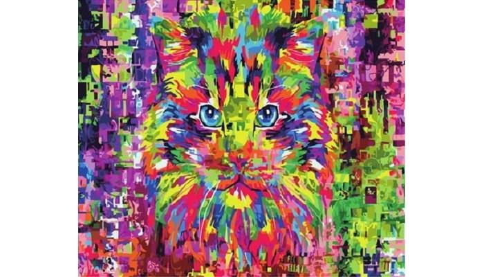 Купить Картины по номерам, Paintboy Картина по номерам Красочный кот