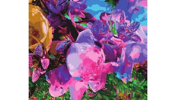 Купить Картины по номерам, Paintboy Картина по номерам Цветочная абстракция