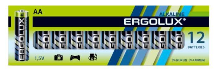Батарейки, удлинители и переходники Ergolux Батарейка Alkaline BP-12 (AA - LR6, 1.5В)