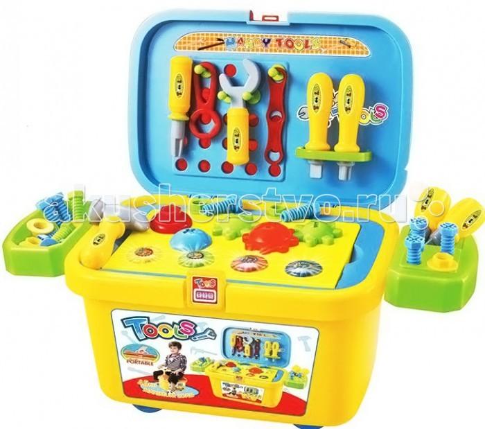 Ami&amp;Co (AmiCo) Набор инструментов в чемоданеНабор инструментов в чемоданеAmi&Co (AmiCo) Набор инструментов в чемодане. Чемодан приятной расцветки, декорированный наклейками с акссесуарами.  Чемодан соединяет в себе три функции: каталка, в чемодане предусмотрена дополнительная ручка, которая вкручивается при катании чемодан для хранения игрушек ростовой набор, с различными акссесуарами для игры.   Игровой набор инструментов- это увлекательная игрушка, которая заинтересует вашего ребенка своим разнообразием предметов.<br>
