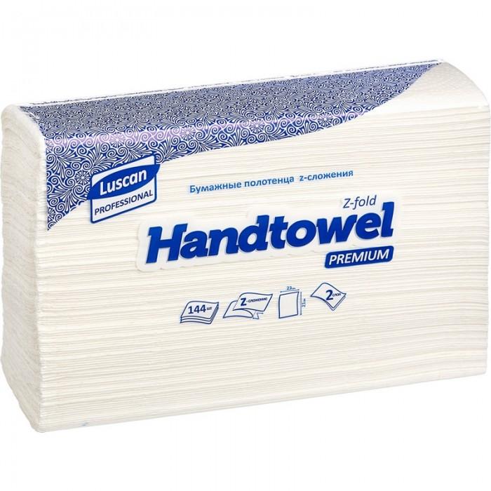 Хозяйственные товары Luscan Professional Полотенца бумажные для диспенсеров 2-х слойные 144 листа 20 шт. полотенца бумажные 110 шт tork система h2 premium комплект 21 шт 2 слойные белые 21х34 interfold 100288